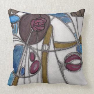 Meckintosh roses throw pillow