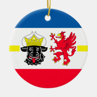 Mecklenburg-Western Pomerania flag Ceramic Ornament