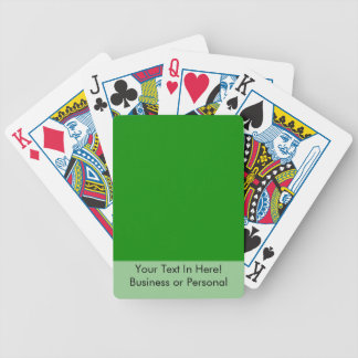 med green DIY custom background template Bicycle Playing Cards