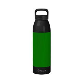 med green DIY custom background template Drinking Bottles