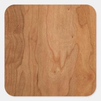 Med-Lt Wood Grain Square Sticker