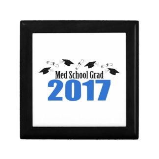 Med School Grad 2017 Caps And Diplomas (Blue) Gift Box