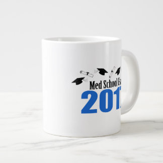 Med School Grad 2017 Caps And Diplomas (Blue) Large Coffee Mug