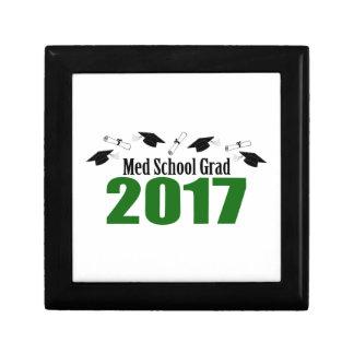 Med School Grad 2017 Caps And Diplomas (Green) Gift Box