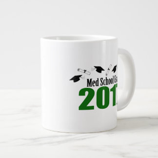 Med School Grad 2017 Caps And Diplomas (Green) Large Coffee Mug
