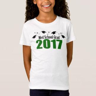 Med School Grad 2017 Caps And Diplomas (Green) T-Shirt