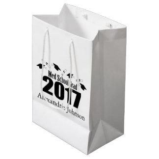 Med School Grad 2017 Graduation Gift Bag (Black)