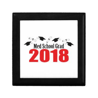 Med School Grad 2018 Caps And Diplomas (Red) Gift Box