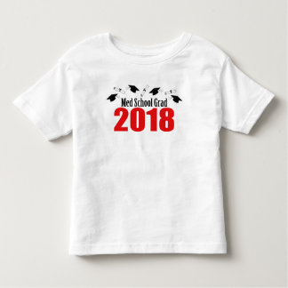 Med School Grad 2018 Caps And Diplomas (Red) Toddler T-shirt
