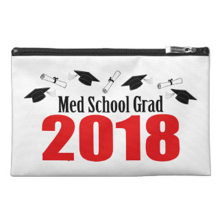 Med School Grad 2018 Caps And Diplomas (Red) Travel Accessory Bag
