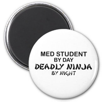Med Student Deadly Ninja 2 Inch Round Magnet