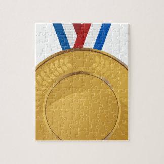 Médaille d'or puzzle