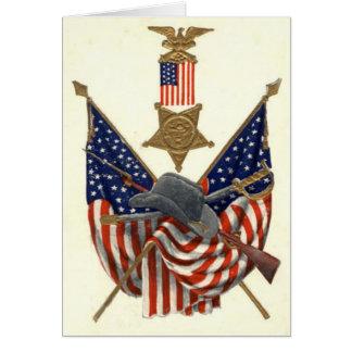 Médaille Eagle de guerre civile des syndicats de Carte De Vœux