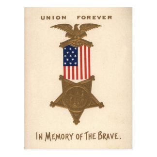 Médaille Eagle de guerre civile des syndicats de Carte Postale