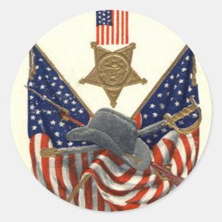 Médaille Eagle de guerre civile des syndicats de d Autocollants Ronds