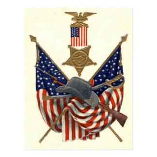 Médaille Eagle de guerre civile des syndicats de d Cartes Postales