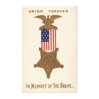 Médaille Eagle de guerre civile des syndicats de d Impression Sur Toile