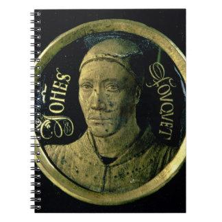 Médaillon d autoportrait c 1450 émail sur le cui carnet