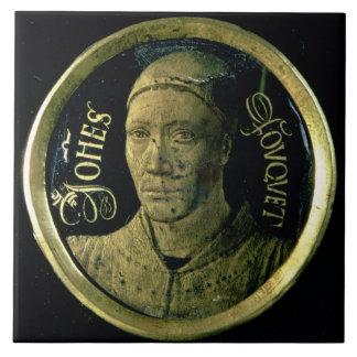 Médaillon d autoportrait c 1450 émail sur le cui carreaux en céramique