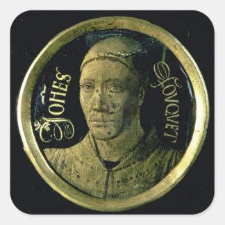 Médaillon d'autoportrait, c.1450 (émail sur le stickers carrés