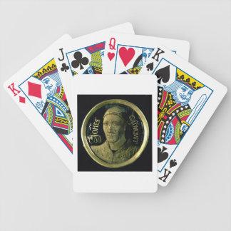 Médaillon d'autoportrait, c.1450 (émail sur le cui jeu de 52 cartes