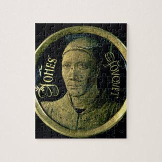 Médaillon d'autoportrait, c.1450 (émail sur le cui puzzles