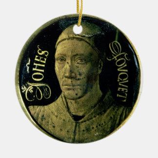 Médaillon d'autoportrait, c.1450 (émail sur le ornement rond en céramique