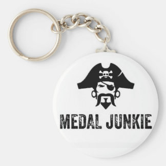 Medal Junkie Keyring Basic Round Button Keychain