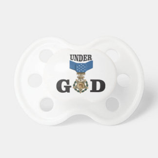 medal under god baby pacifiers