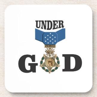 medal under god drink coasters