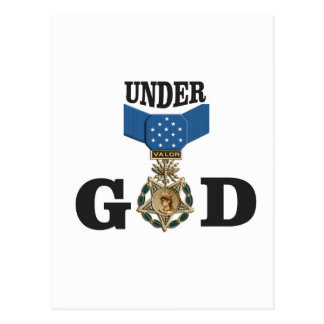 medal under god postcard