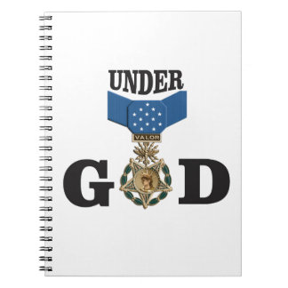medal under god spiral notebooks