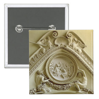 Medallion depicting the Baptism of Constantine 2 Inch Square Button