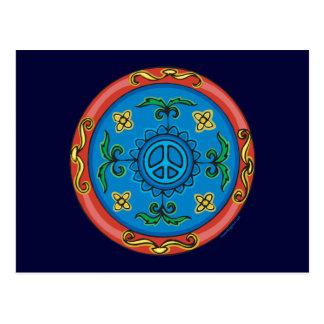Medallion Design Peace Sign Postcard