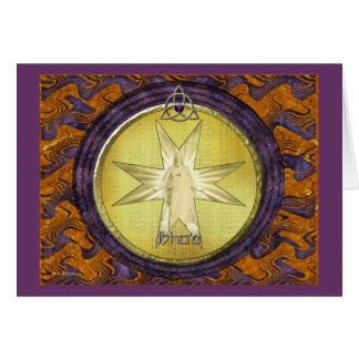 Medallion of I'shoa (Jesus) Card
