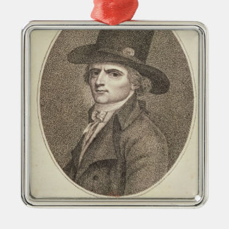 Medallion Portrait of Francois Noel Silver-Colored Square Ornament