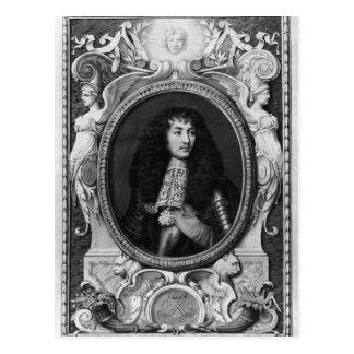 Medallion Portrait of Louis XIV Postcard