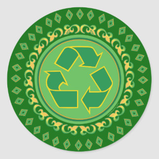 Medallion Recycle Sign Stickers