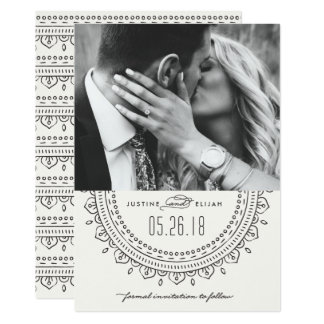 Medallion Save the Date Card - Slate