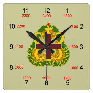 MEDCOM DUI Military Time Wall Clock