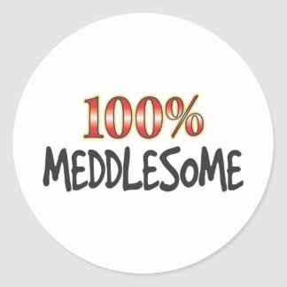 Meddlesome 100 Percent Sticker