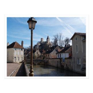Medeaval Chatillon-sur-Siene Burgundy. Postcard