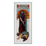 Medee (Medea) - Mucha - Art Nouveau Theatre ad Poster