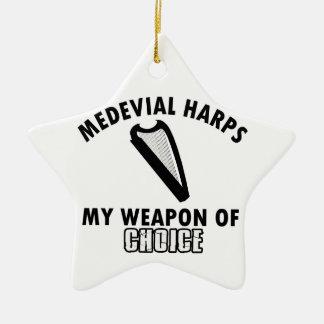 medevial Harps choice Ceramic Ornament