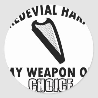 medevial Harps choice Classic Round Sticker