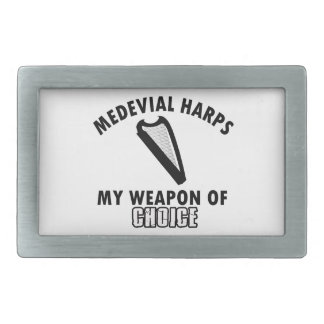 medevial Harps choice Rectangular Belt Buckle