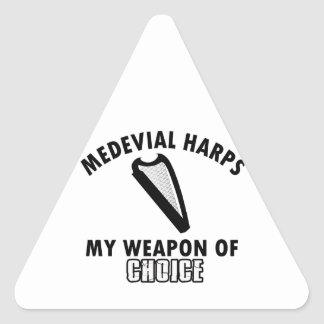 medevial Harps choice Triangle Sticker