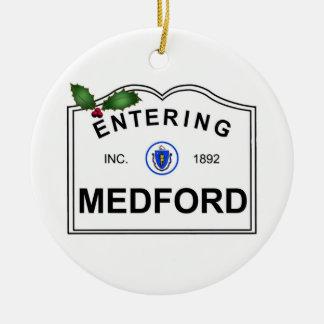 Medford MA Ceramic Ornament