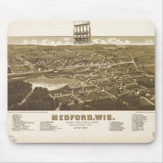 Medford Wisconsin (1885) Mouse Pad