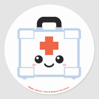 Medi Pals First Aid Kit Round Sticker